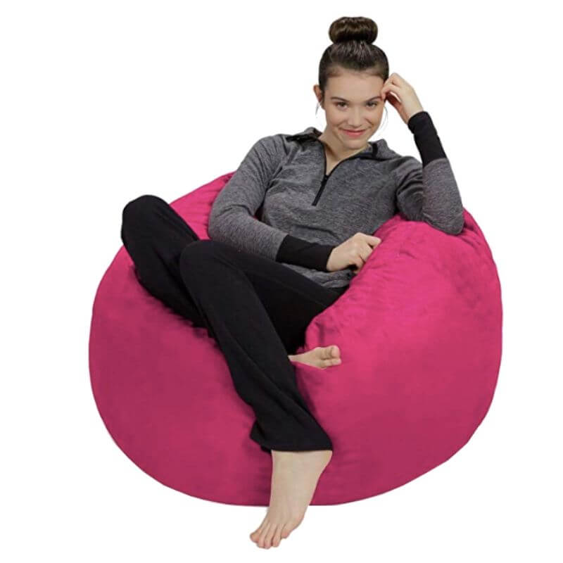 Super Cool College Dorm Room Chairs | Magenta Bean Bag Chair