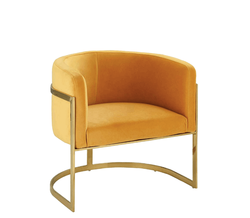Super Cool College Dorm Room Chairs | Modern Yellow Gold Accent Chair