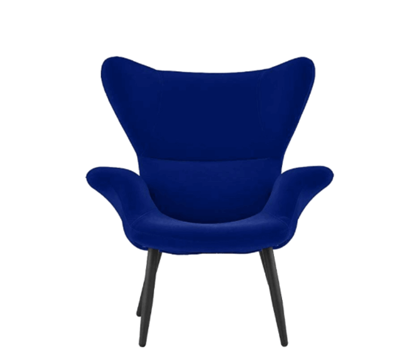 Super Cool College Dorm Room Chairs |Royal Blue Modern Velvet Accent Chair
