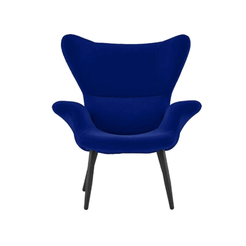 College Apartment Decorating Ideas For Your College Apartment Living Room | Royal Blue Modern Velvet Accent Chair