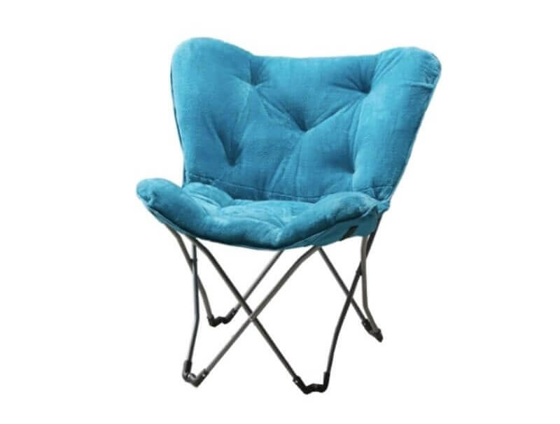 Super Cool College Dorm Room Chairs | Teal Faux Fur Folding Butterfly Chair