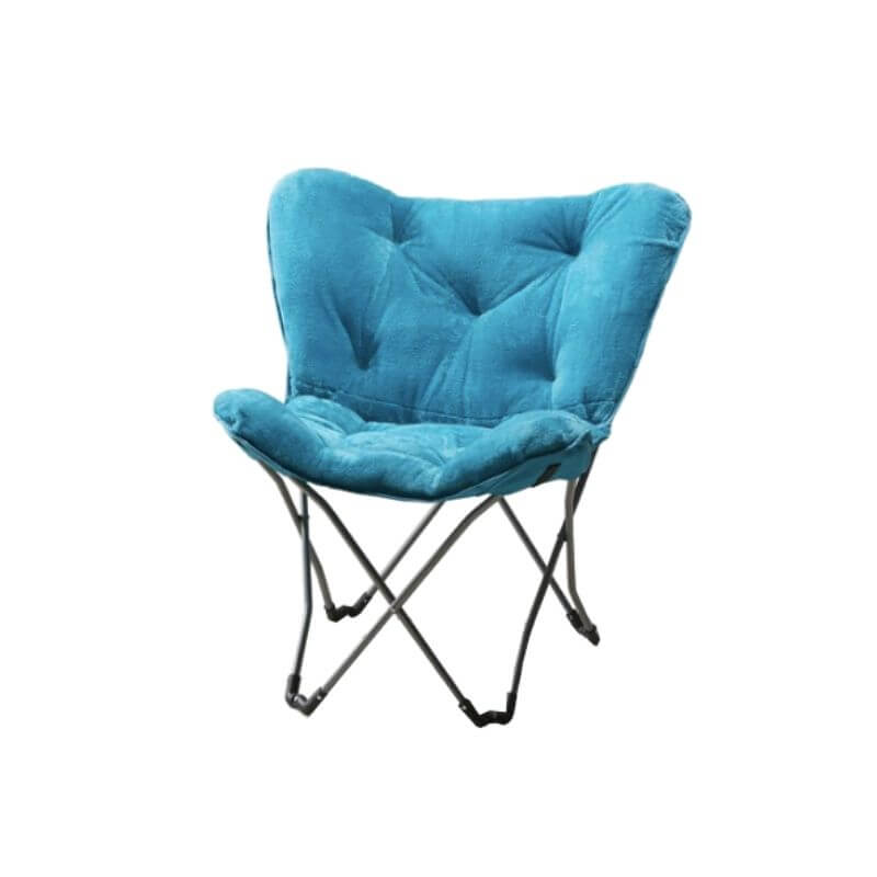 College Apartment Decorating Ideas For Your College Apartment Living Room | Teal Faux Fur Folding Butterfly Chair