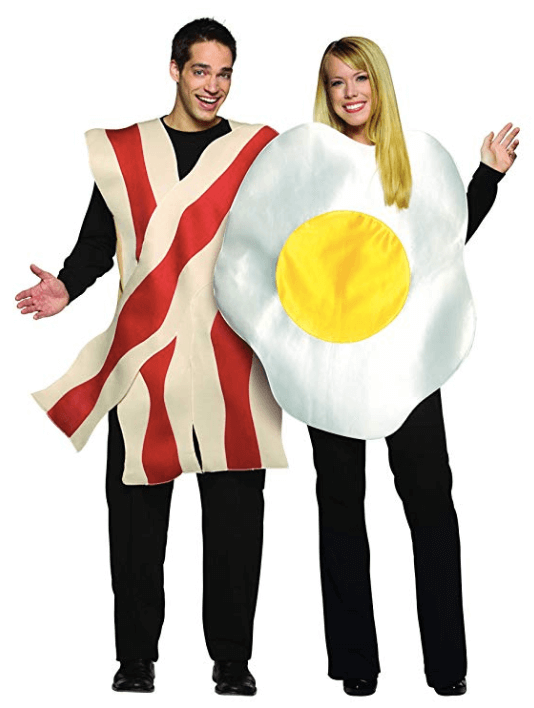 Bacon and Eggs Couple Halloween Costume