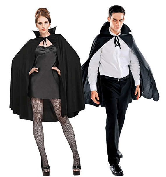 Black Cape Deluxe Couple Halloween Costume