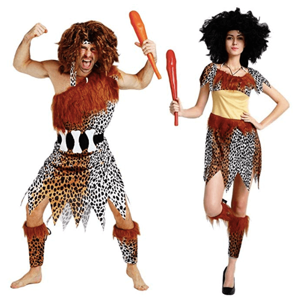 Caveman Cavewoman Couples Costume Halloween