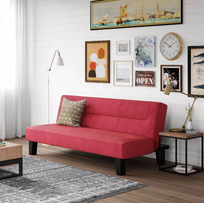 College Apartment Decorating Ideas For Your College Apartment Living Room | Pink Small Couch