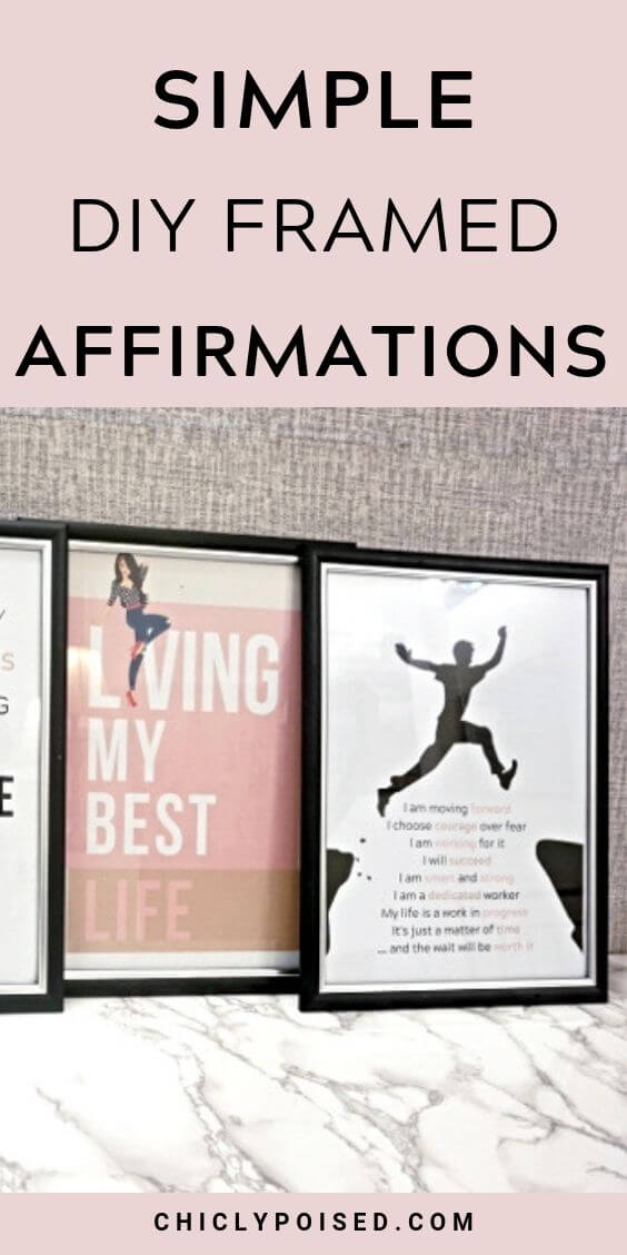 DIY Framed Affirmations 1 of 8
