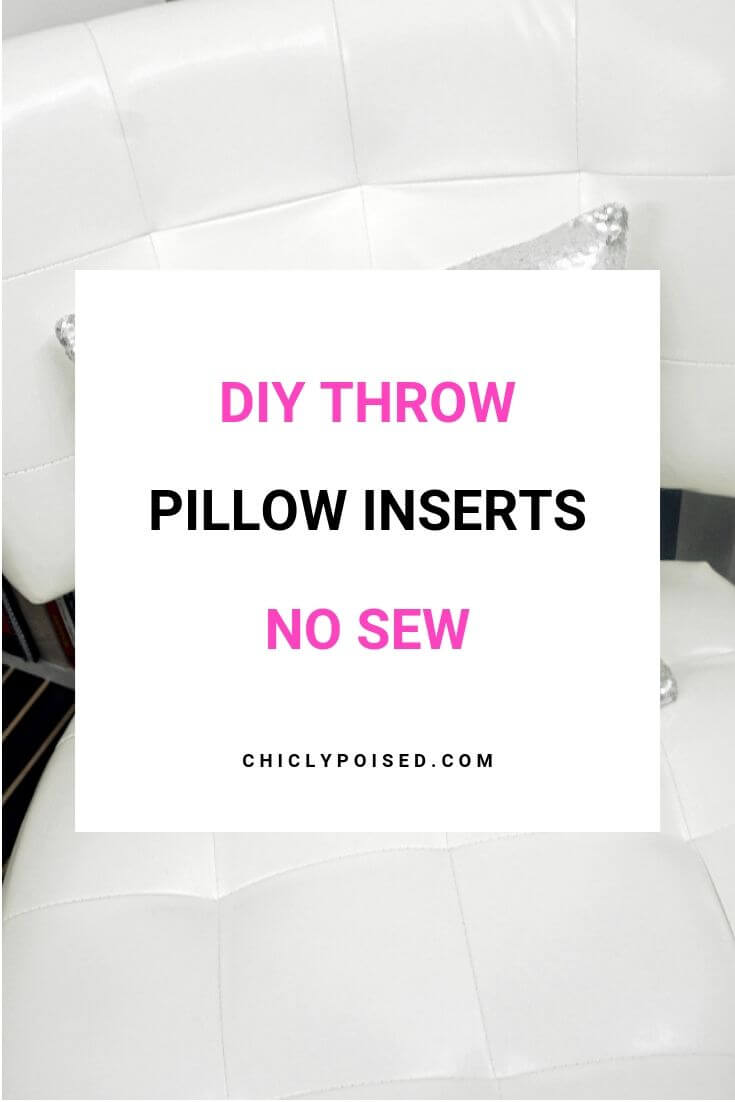 DIY Throw Pillow Insert No Sew 2 of 5