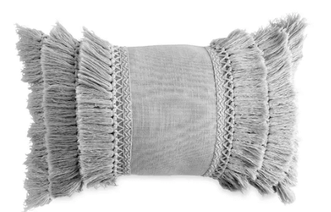 Fringe Decorative Cotton Throw Pillow
