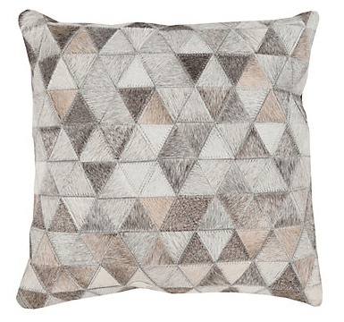 Geometric Gray Decorative Pillow Case