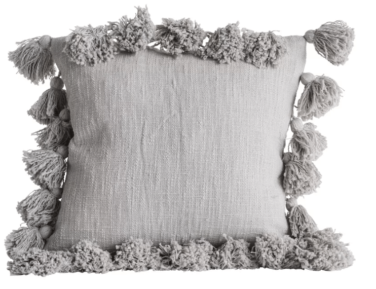 Gray Decorative Pillow Case
