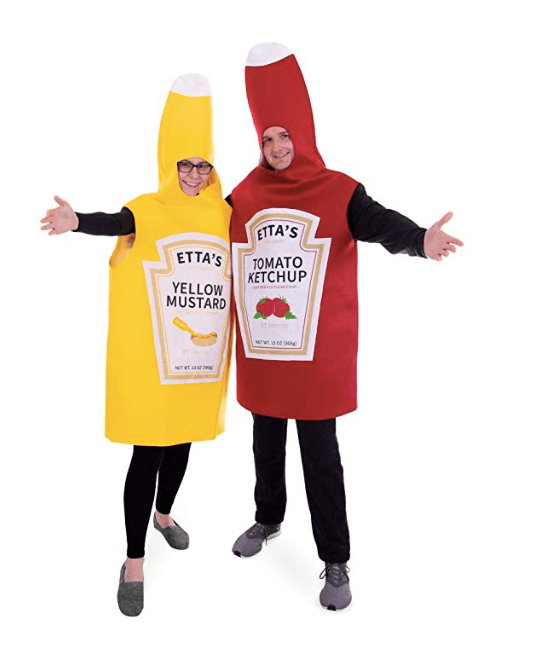 Ketchup and Mustard Couple Halloween Costume