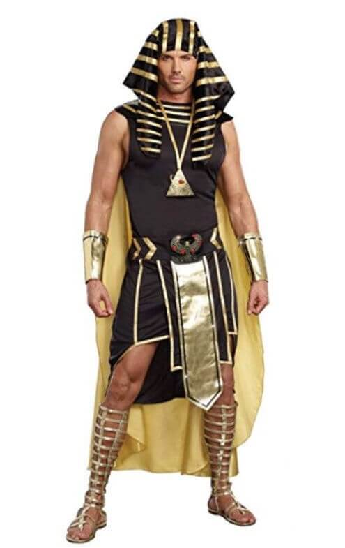 King Tut Costume and Cleopatra Couple Halloween Costume King Tut Costume