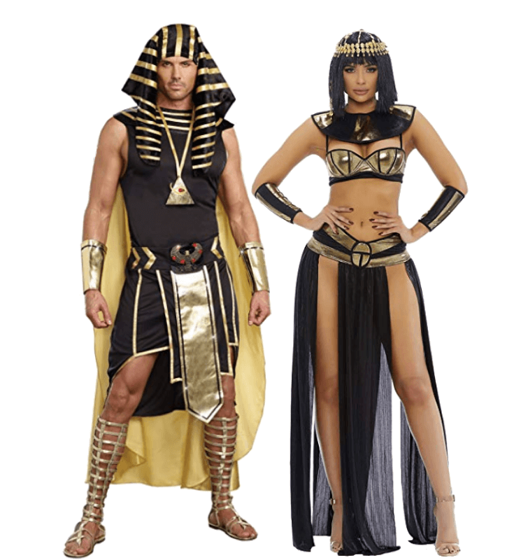 King Tut and Cleopatra Couple Halloween Costumes