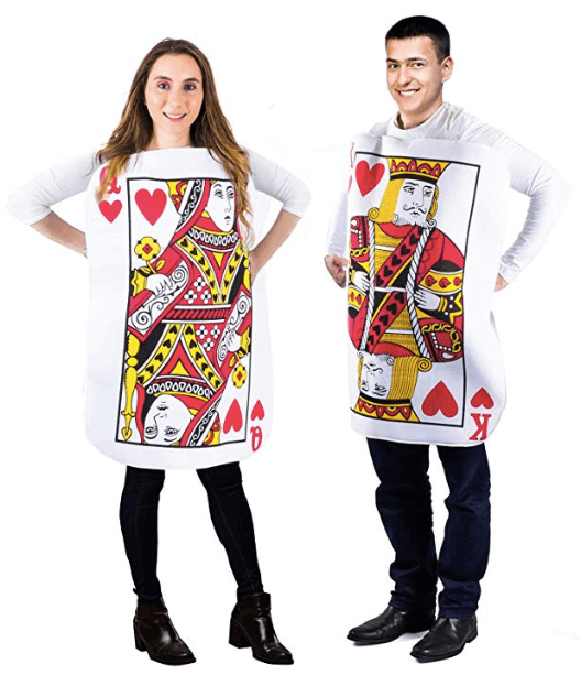 King and Queen Poker Cards Couple Halloween Costume