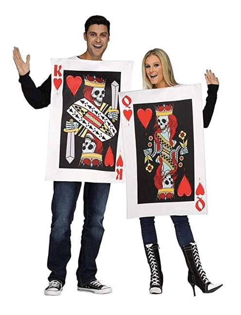 King and Queen of Hearts Couple Halloween Costume
