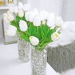 Simple DIY Fake Flower Centerpieces 1 of 3