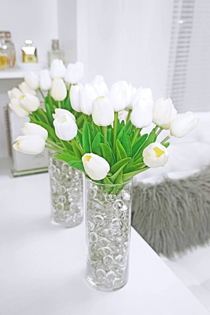 Simple Diy Fake Flower Centerpieces Chiclypoised