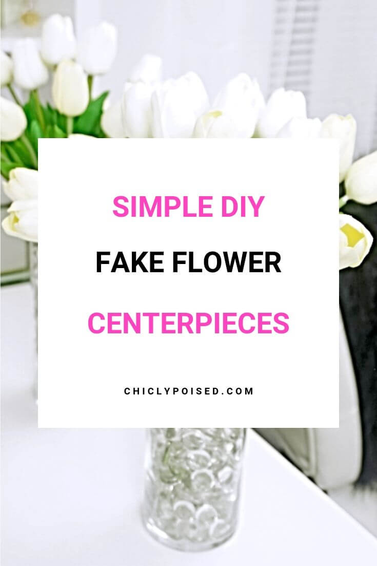 Simple DIY Fake Flower Centerpieces 2 of 3