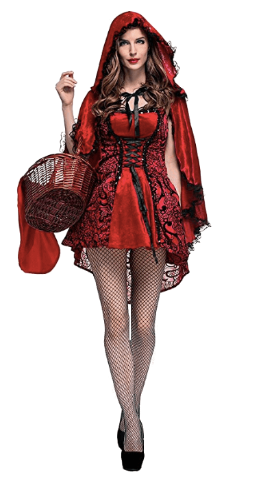 The Wolf and Little Red Riding Hood Couple Halloween Costume Red Riding Hood