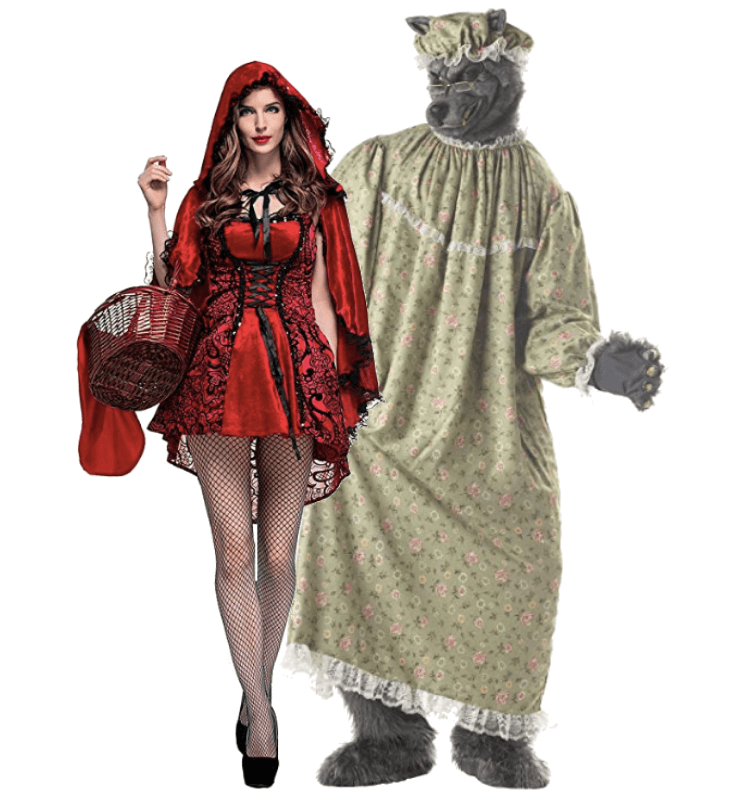 The Wolf in Grandma Dress and Little Red Riding Hood