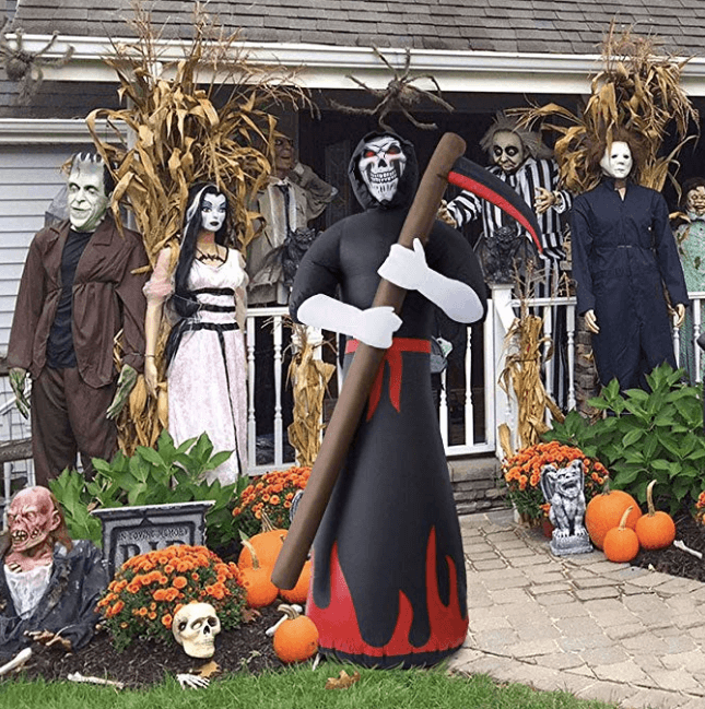 Inflatables Grim Reaper Inflatable Blow Up Outdoor Halloween Decorations