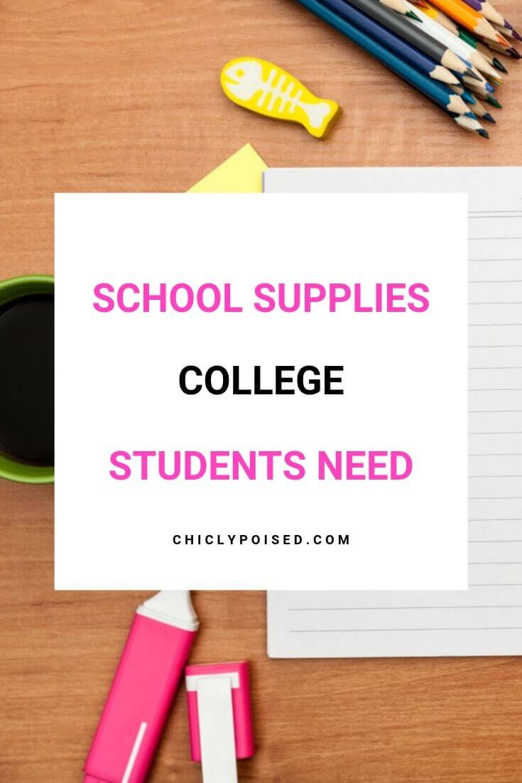 School Supplies College Students Need 3 of 3