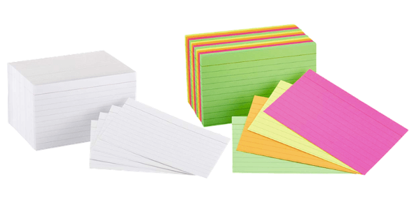 School Supplies College Students Use | Index cards