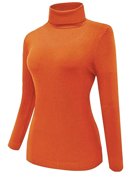 Scooby-Doo, Where Are You? | Velma Halloween Costume Orange Turtleneck Sweater