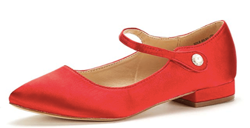 Scooby-Doo, Where Are You? | Velma Halloween Costume Red Ankle Straps Mary Jane Flats