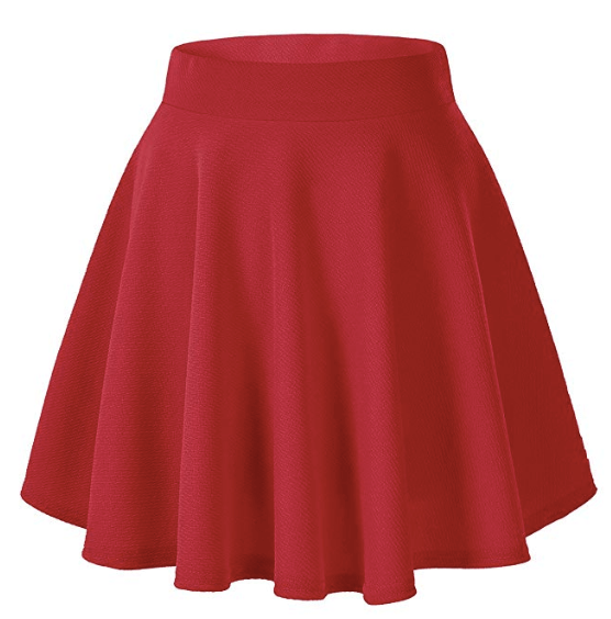 Scooby-Doo, Where Are You? | Velma Halloween Costume Red Short Skater Skirt