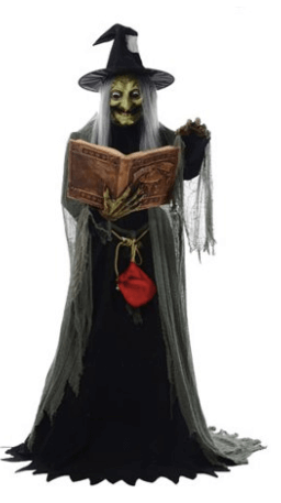 Spell Casting Witch with Lights & Sound Halloween Decoration