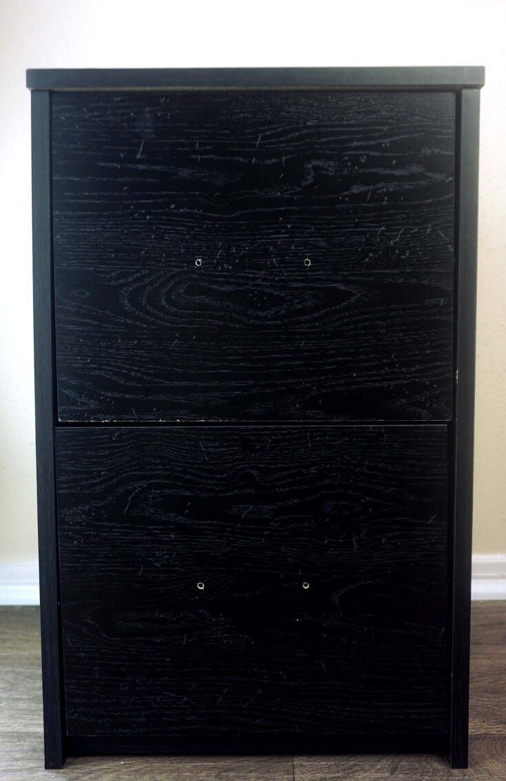 DIY Gold and White Filing Cabinet Makeover 6 of 10