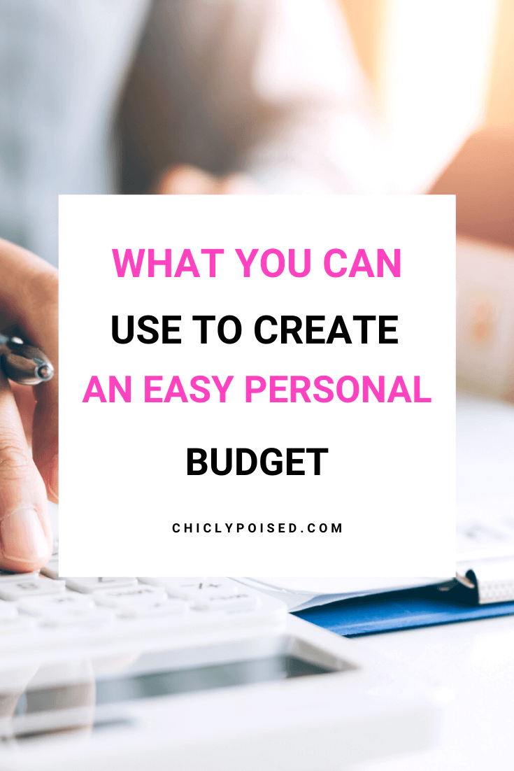What You Can Use To Start Creating An Easy Personal Budget 1 of 1