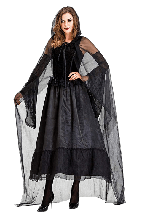 Adult Witch Black Halloween Costumes 10