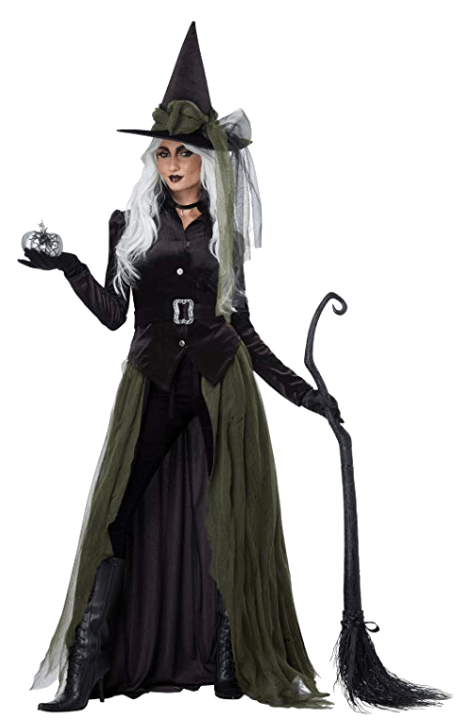 Adult Witch Black Halloween Costumes 2
