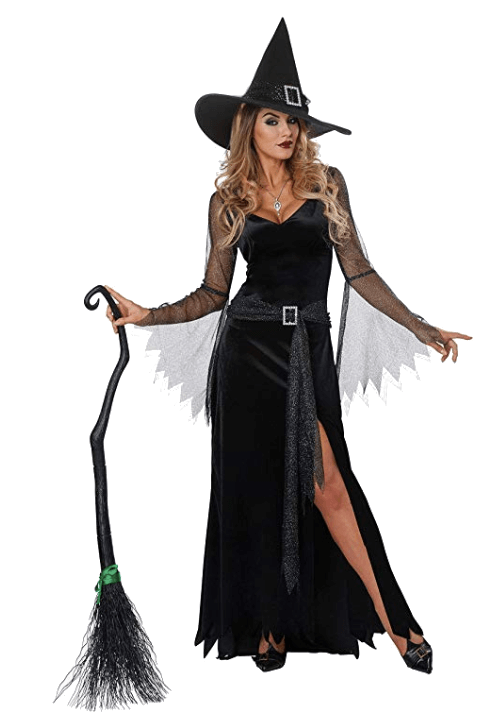 Adult Witch Black Halloween Costumes 3
