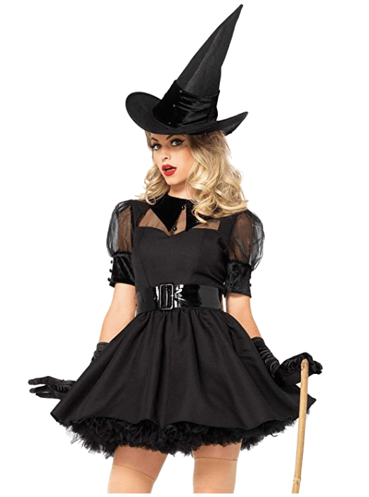 Adult Witch Black Halloween Costumes 4