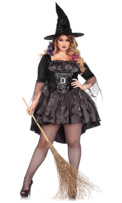 Adult Witch Black Halloween Costumes 5