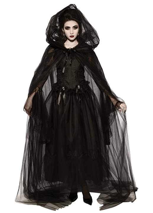 Adult Witch Black Halloween Costumes 6