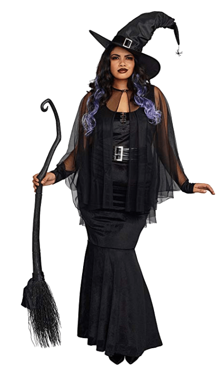 Adult Witch Black Halloween Costumes 7
