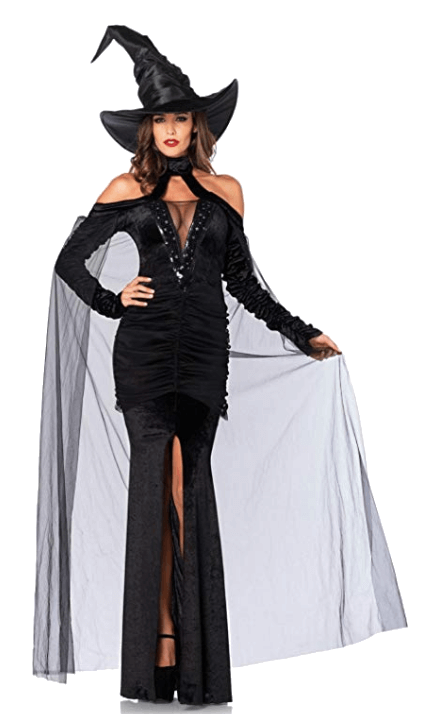 Adult Witch Black Halloween Costumes 8