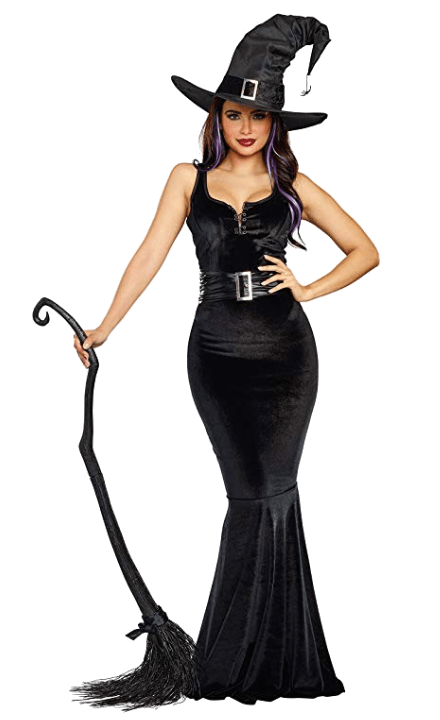 Adult Witch Black Halloween Costumes