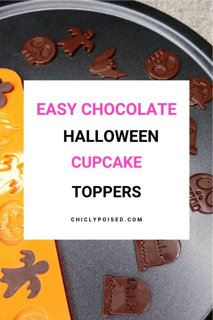 Easy Halloween Chocolate Cupcake Toppers