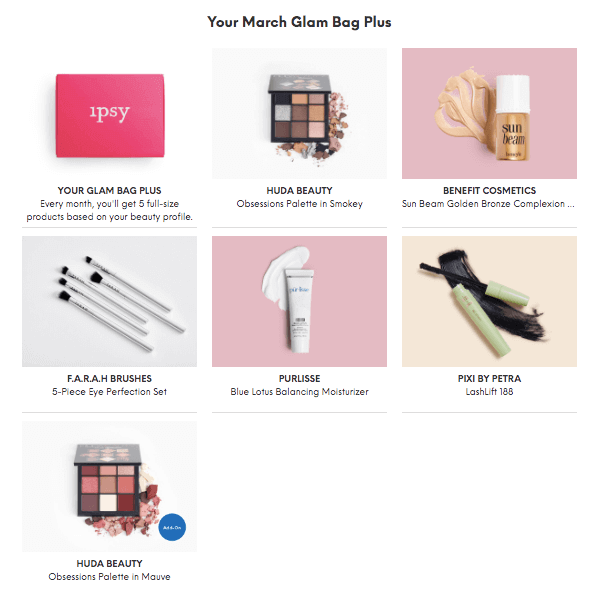 Ipsy Reveal March 2019