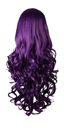 Long Purple Witch Wig