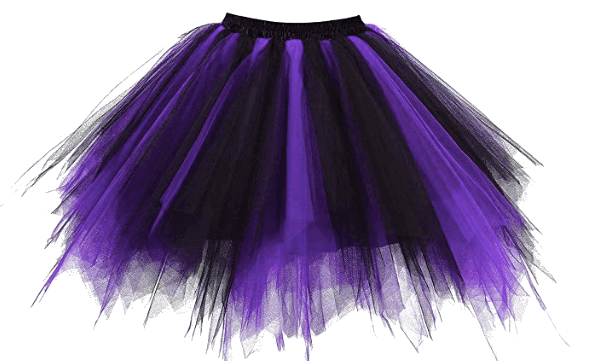 Purple and Black Tulle Petticoat