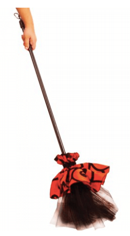 Witch Broom Adult Halloween Accessory