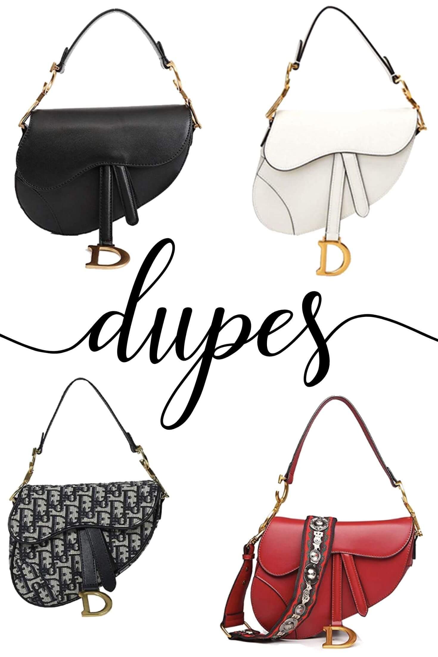 Christian Dior Saddle Bag Dupes 1 of 7