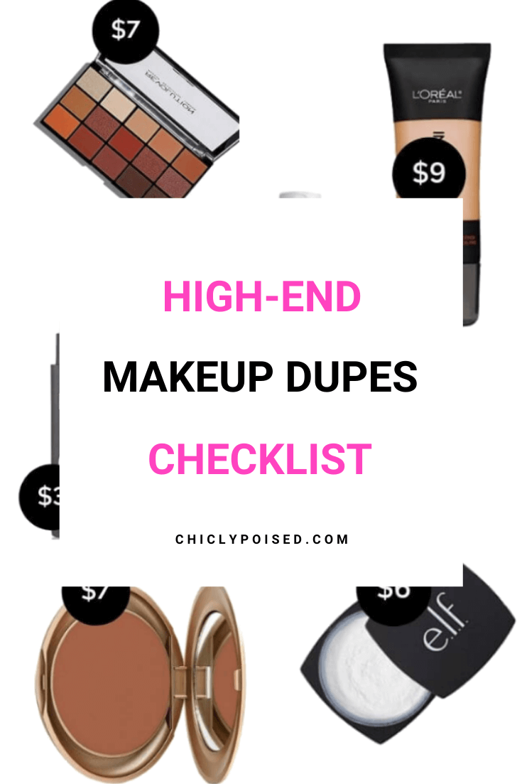 High-End Makeup Dupes Checklist 2 of 2